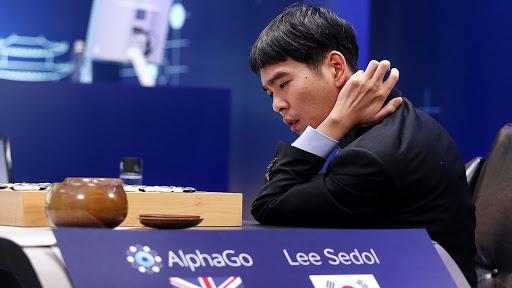 AlphaGo battling Lee Sedol.